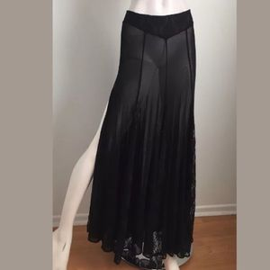NWT Urban Outfitters Sheer High Slit Maxi Skirt